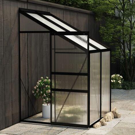 Invernadero de aluminio gris antracita 2,7 m3 - Antracita