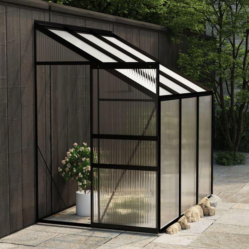 Youthup - Invernadero de aluminio gris antracita 3,97 m3 - Antracita