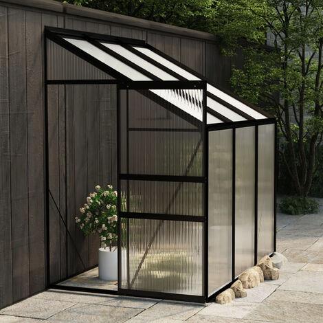 Invernadero de aluminio gris antracita 3,97 m3
