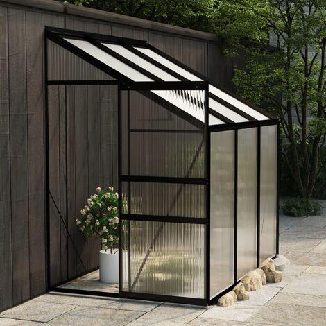 Invernadero de aluminio gris antracita 3,97 m3 - Antracita