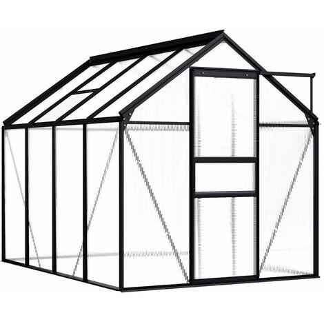 Invernadero de aluminio gris antracita 4,75 m²