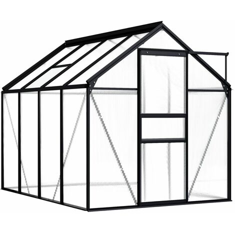 Invernadero de aluminio gris antracita 4,75 m² - Antracita