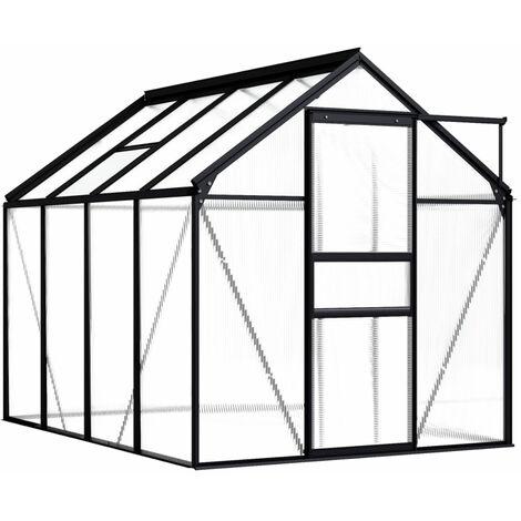 Invernadero de aluminio gris antracita 4,75 m2