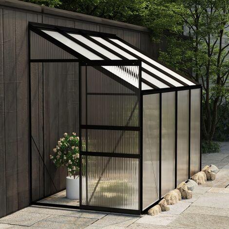 Invernadero de aluminio gris antracita 5,24 m3 - Antracita