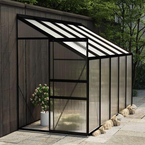 Invernadero de aluminio gris antracita 6,5 m3 - Antracita