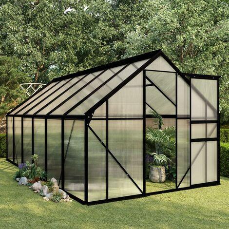 Invernadero de aluminio gris antracita 7,03 m2