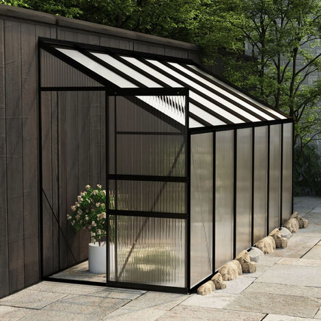 Invernadero de aluminio gris antracita 7,44 m3