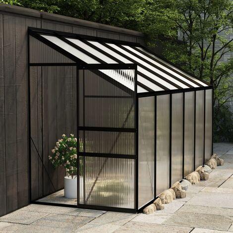 Invernadero de aluminio gris antracita 7,44 m3 - Antracita