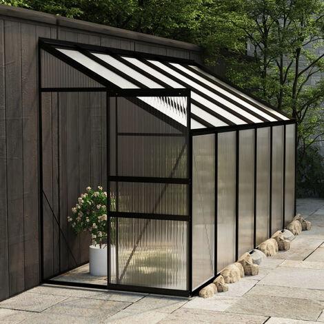 Invernadero de aluminio gris antracita 7,77 m3