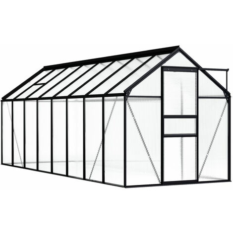 Invernadero de aluminio gris antracita 9,31 m2