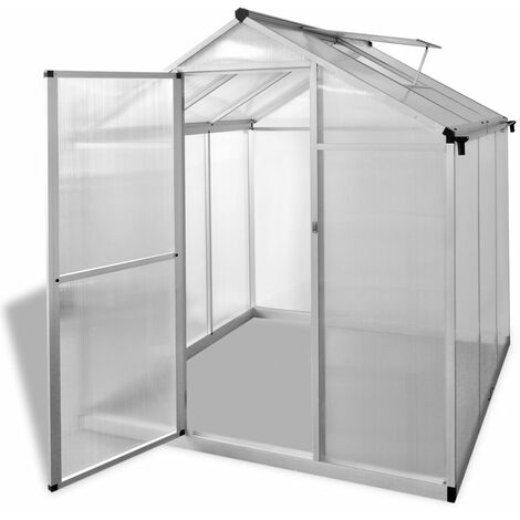 Invernadero de aluminio reforzado 3,46 m2