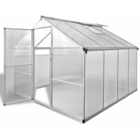 Invernadero de aluminio reforzado con marco base 6,05 m² - Transparente