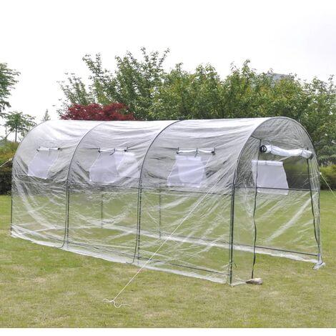 Invernadero de exterior grande portátil jardinería plantación - Transparente