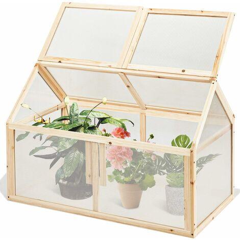 Invernadero de Jardín de Madera Soporte para Plantas Caja para Flores Macetas para Balcón Exterior Interior