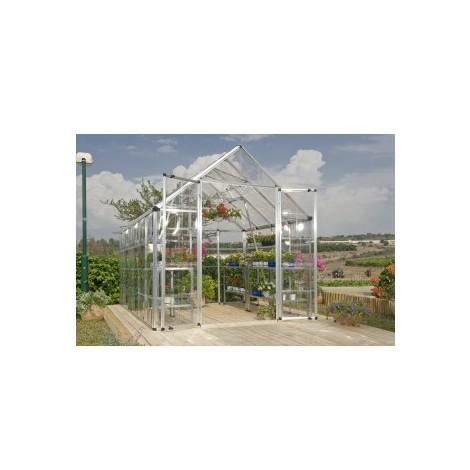 Invernadero de jardín de policarbonato LUXE 88 - 6,3m2