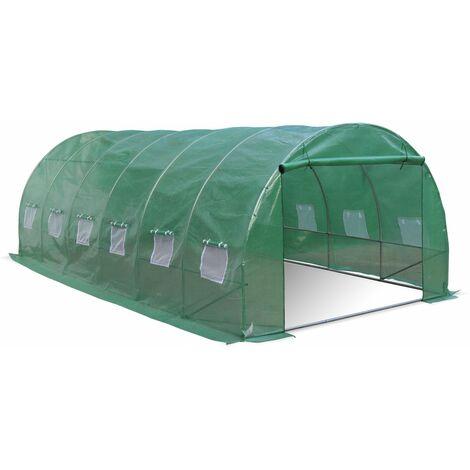 Invernadero de jardín de túnel de polietileno de 18 m²
