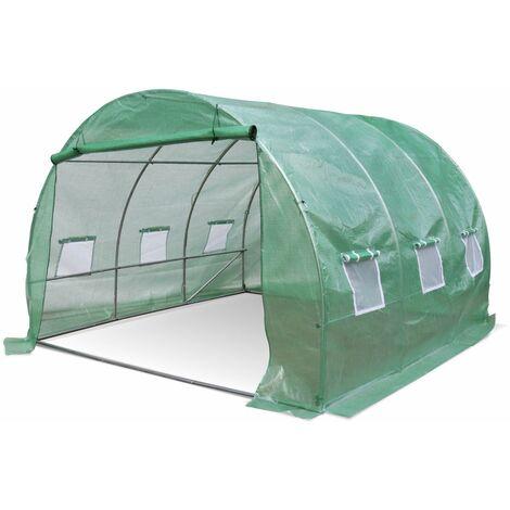 Invernadero de jardín de túnel de polietileno de 9 m² - Verde