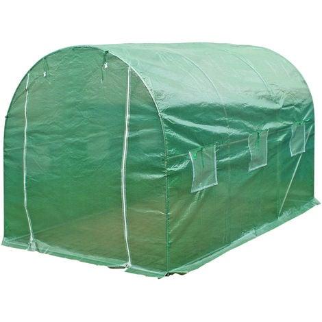 Invernadero de jardín Plástico para invernadero PE Tunel cultivo 300x200x200cm Ventanas laterales