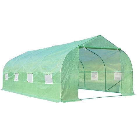 Invernadero de jardín verde 600 x 300 x 200 cm Outsunny