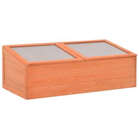 Invernadero de madera 100x50x34 cm - Marrón