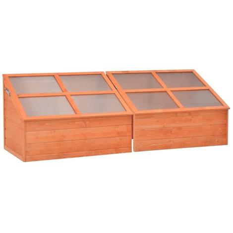 Invernadero de madera 180x57x62 cm