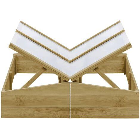 Invernadero de madera de pino impregnada 2 uds 100x50x35 cm - Verde