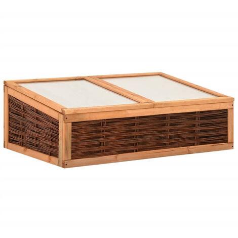 Invernadero de madera maciza de pino y sauce 120x80x45 cm