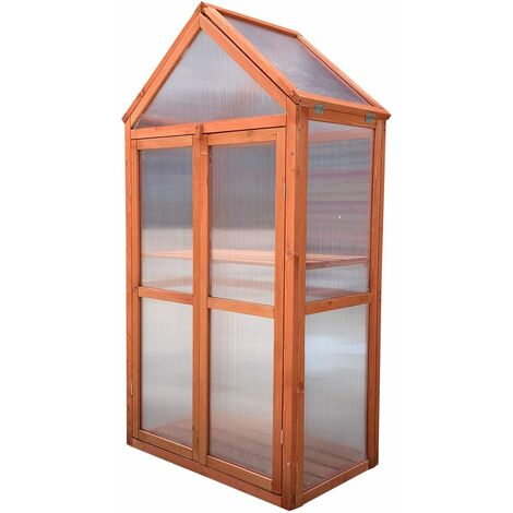 Invernadero de madera y policarbonato Gardiun Wooden IV 70x41x132 cm - KNH1215