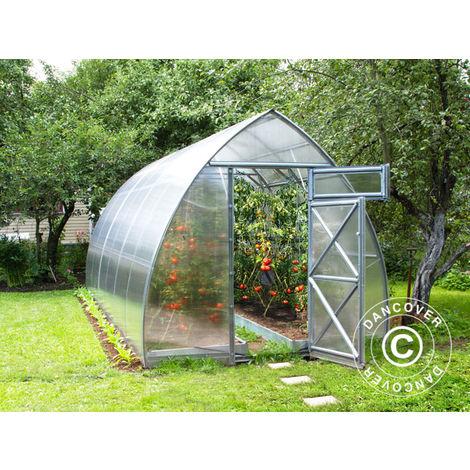 Invernadero de policarbonato, Arrow 15,6m², 2,6x6m, Plateado