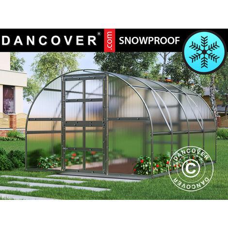 Invernadero de policarbonato de TITAN Arch 320, 12m², 3x4m, Plateado