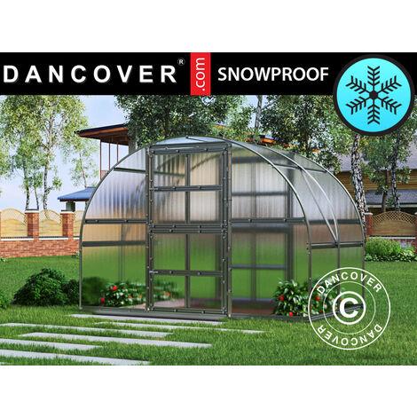 Invernadero de policarbonato de TITAN Arch 320, 6m², 3x2m, Plateado