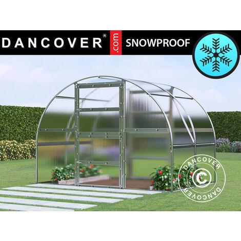 Invernadero de policarbonato TITAN Arch 280, 6m², 3x2m, Plateado