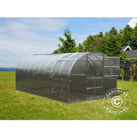 Invernadero de policarbonato TITAN Arch 320, 18m², 3x6m, Plateado