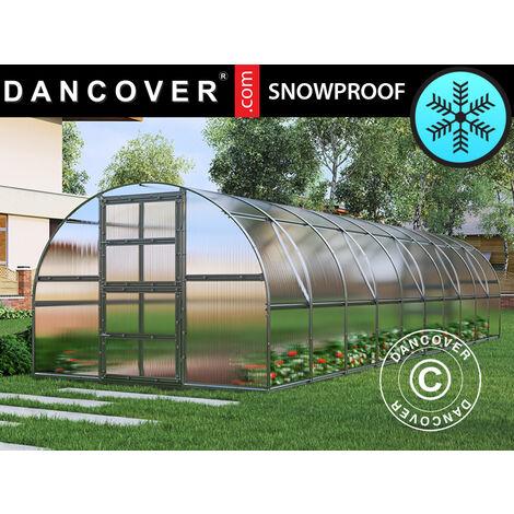 Invernadero de policarbonato TITAN Arch 320, 30m², 3x10m, Plateado