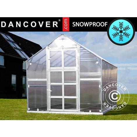 Invernadero de policarbonato TITAN Classic 480, 4,9m², 2,35x2,12m, Plateado