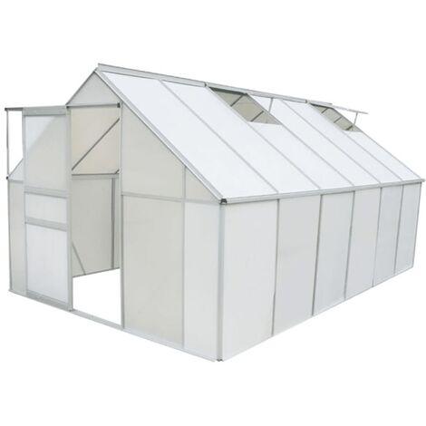 Invernadero de policarbonato y aluminio 371x250x195 cm