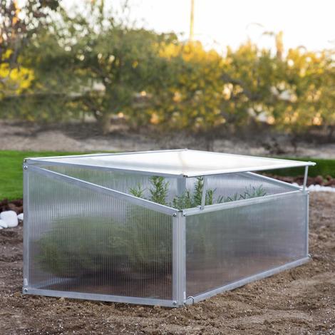 Invernadero de policarbonato y aluminio