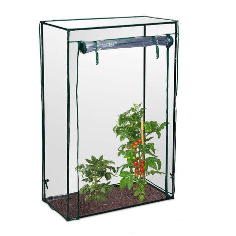 - Invernadero de tomates hecho de PVC con medidas 100 x 150 x 50 cm y peso 2.2 Kg, transparente