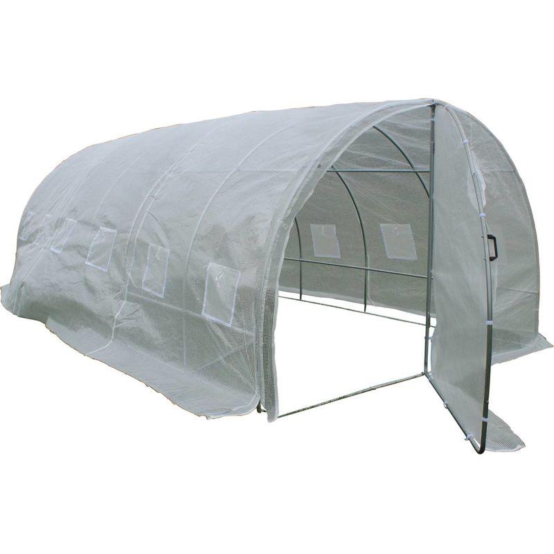 Invernadero con puerta batiente Mimosa - 180 g/m² - 18m² - 6 x 3 x 2 m