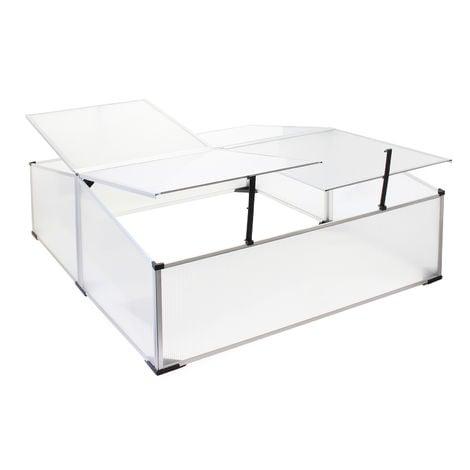 Invernadero doble de aluminio 100x120x40cm Abertura tejado regulable Resistente a la intemperie