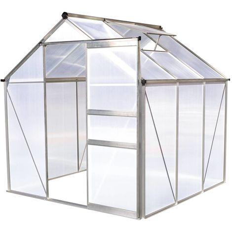 Invernadero en policarbonato Hortensia 3,65m² transparente