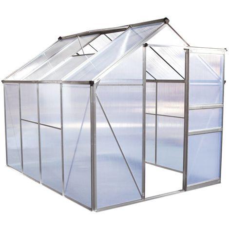 Invernadero en policarbonato Hortensia 4,8m² transparente