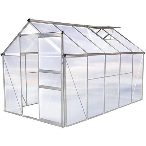 Invernadero en policarbonato Hortensia 6m² transparente