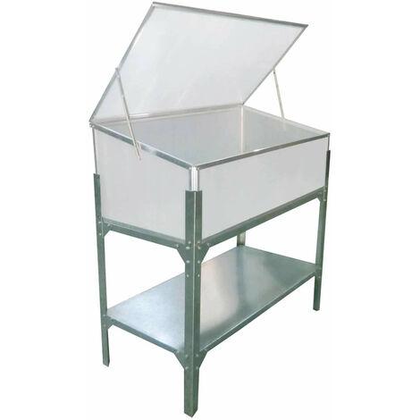 Invernadero Gardiun Jaca Elevado I 53x104x108 cm 1 agua Policarbonato Transparente - KIS12142