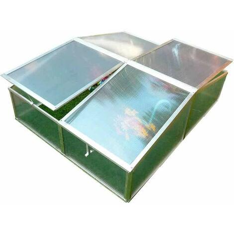 Invernadero Gardiun Jaca II 108x108x40 cm 2 aguas Policarbonato Transparente - KIS12144