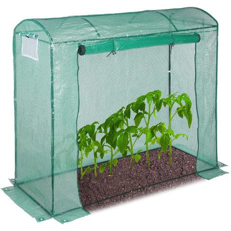 Invernadero Jardín y Terraza para Tomates con Puerta, Acero y Polietileno, Verde, 170 x 80 x 200 cm