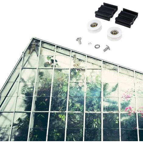 Invernadero kits de reemplazo de la rueda de la puerta, de 22 mm rodillos de la puerta