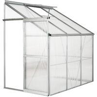 Invernadero lateral - invernadero de jardín para frutas y verduras, construcción de aluminio con puerta corredera, protección contra viento y lluvia - transparente