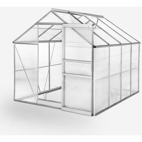 """main image of """"Invernadero para jardín de aluminio y policarbonato con puerta y ventana 183x245x205cm Laelia"""""""