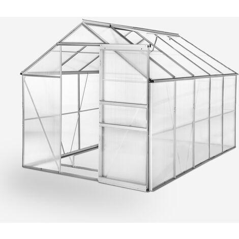"""main image of """"Invernadero para jardin de aluminio y policarbonato con puerta y ventana 183x305x205cm Pavonia"""""""